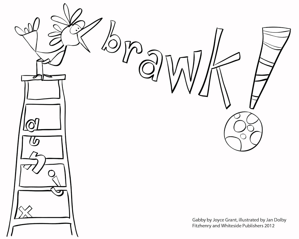 Gabby colouring pages….