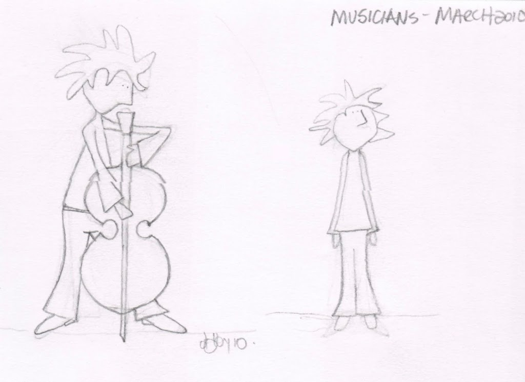 musician sketches…