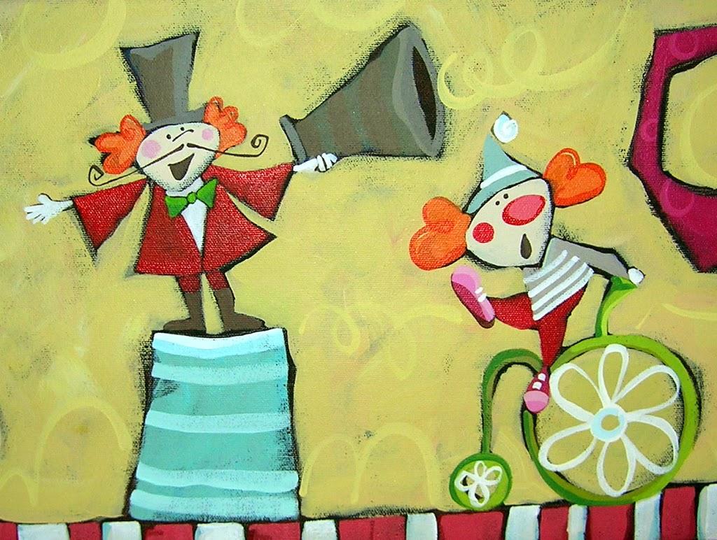 circus theme painting….