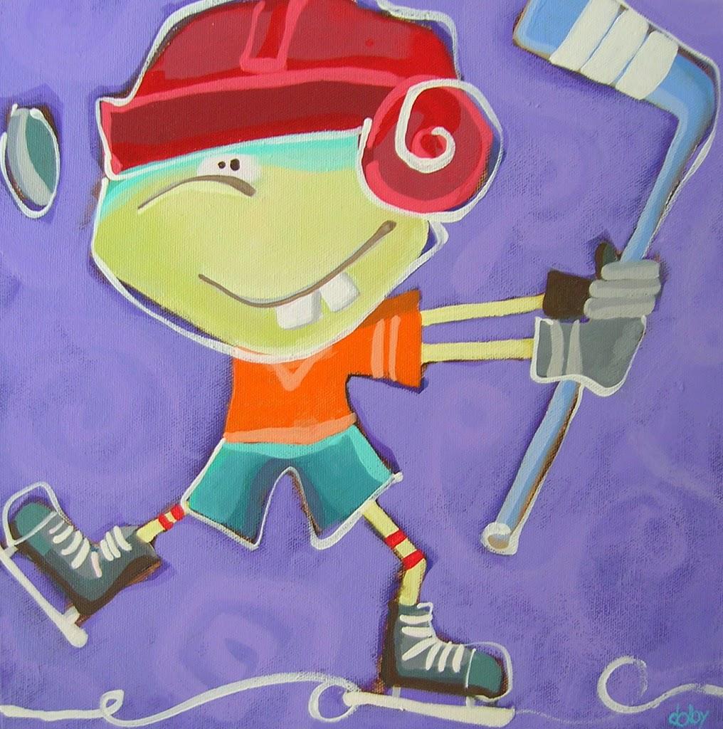 a peewee hockey player…