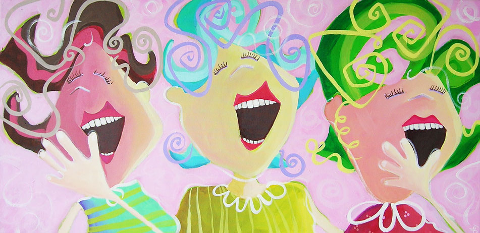laughing ladies…