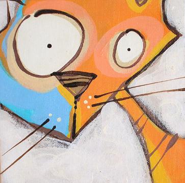 it's an orange cat….