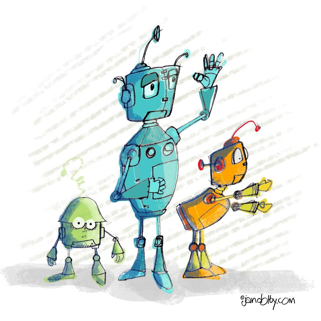 pencil-robots