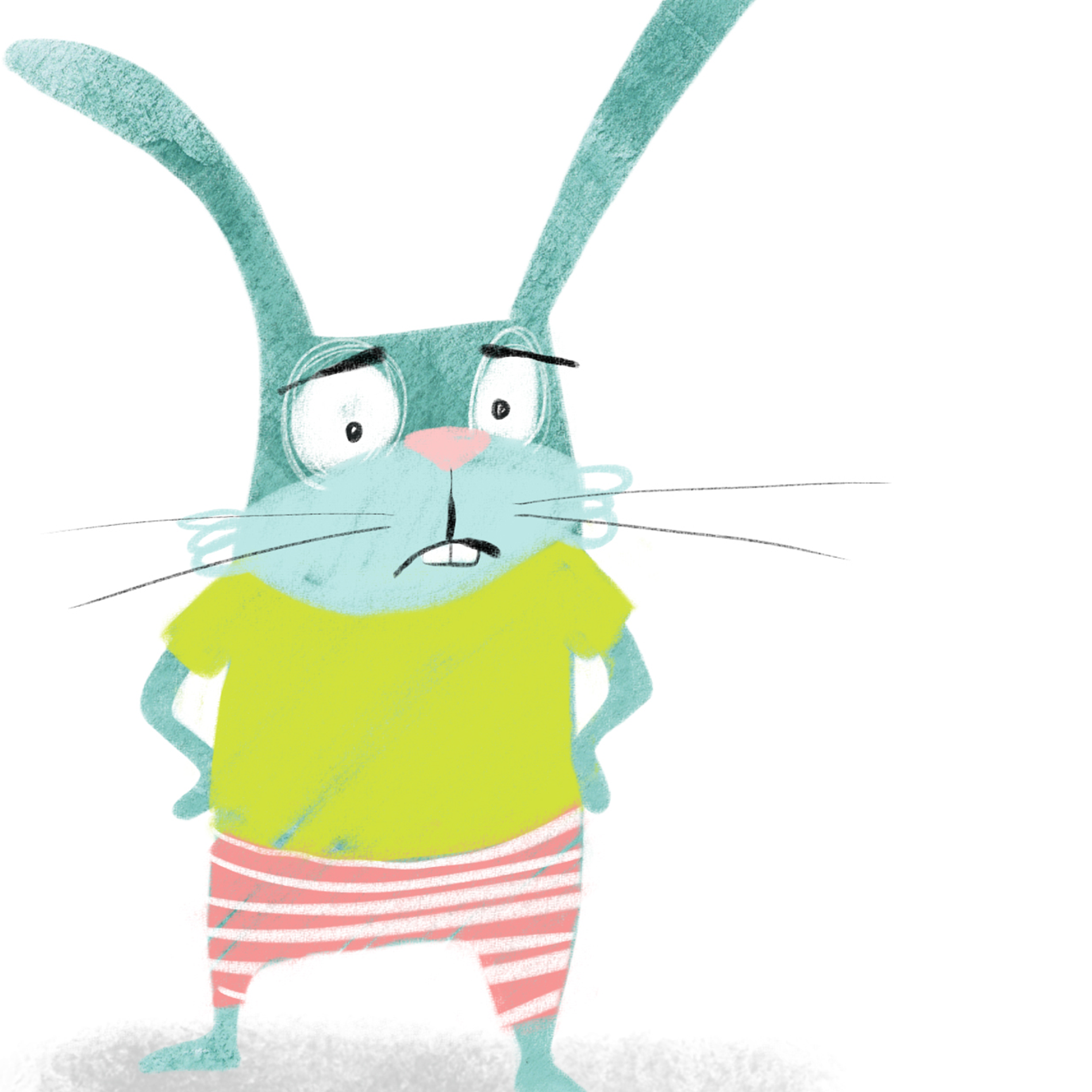 green bunny rabbit